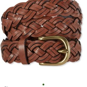 LLBean leather braided belt